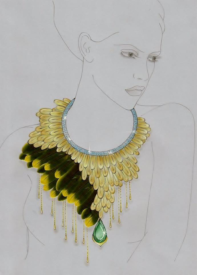 676 best jewellery sketch images on Pinterest