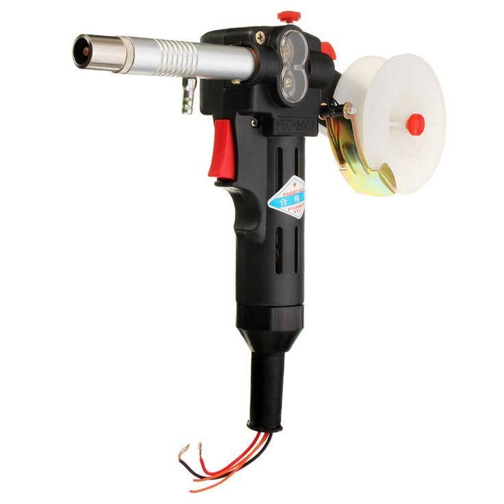 Molinero MIG Alimentador Spool Gun Push-Pull De Aluminio Antorcha De Soldadura sin Cable de Alambre CALIENTE DC 24 V Motor 0.8-0.9mm(China (Mainland))