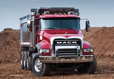 I really want one of these for my personal daily driver !!!Mack Truck Granite Axle Forward Dump Red