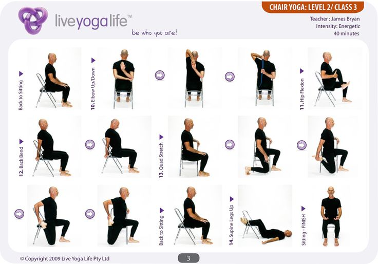 1000 Images About Chair Yoga On Pinterest