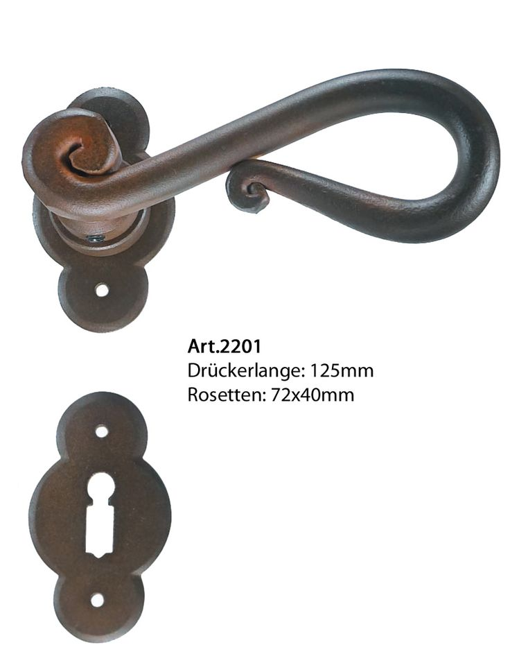 Rosettengarnitur Antik Eisen Von Galbusera Classic Wrought Iron Door Handle T Rgriff Antik