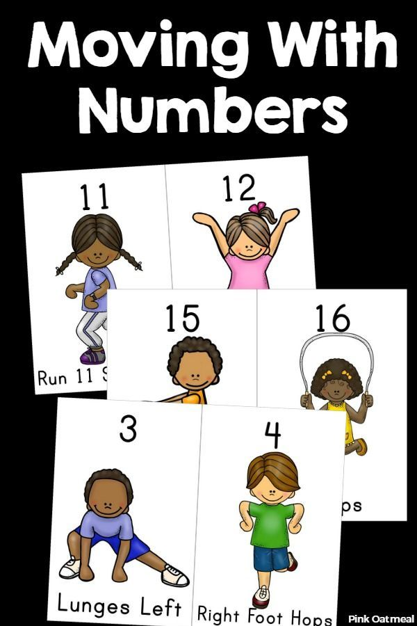Such a fun idea to learn numbers and even to use with dates on the calendar.  Moving with numbers in the perfect preschool activity.  Also great for kindergarten or first grade!