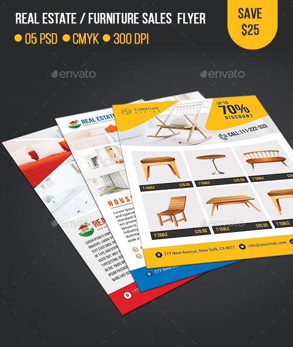 real estate furniture sales flyer template commerce flyers