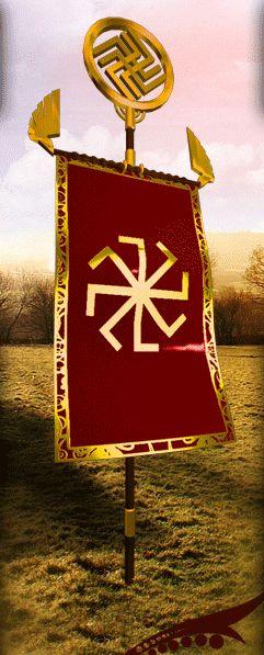 :::: ✿⊱╮☼ ☾ PINTEREST.COM christiancross ☀❤•♥•* ::Стяг Русов / Rus Flag