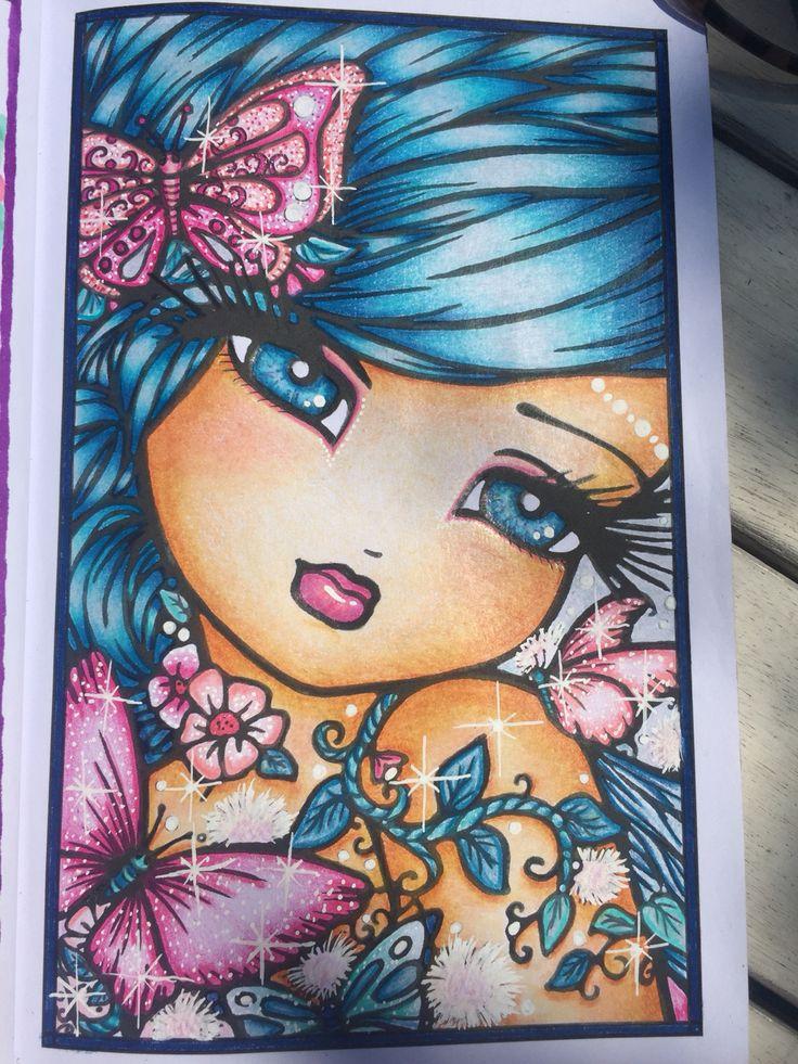 artist hannah lynn colourist rebecca edwards adult coloringcoloring bookscoloring