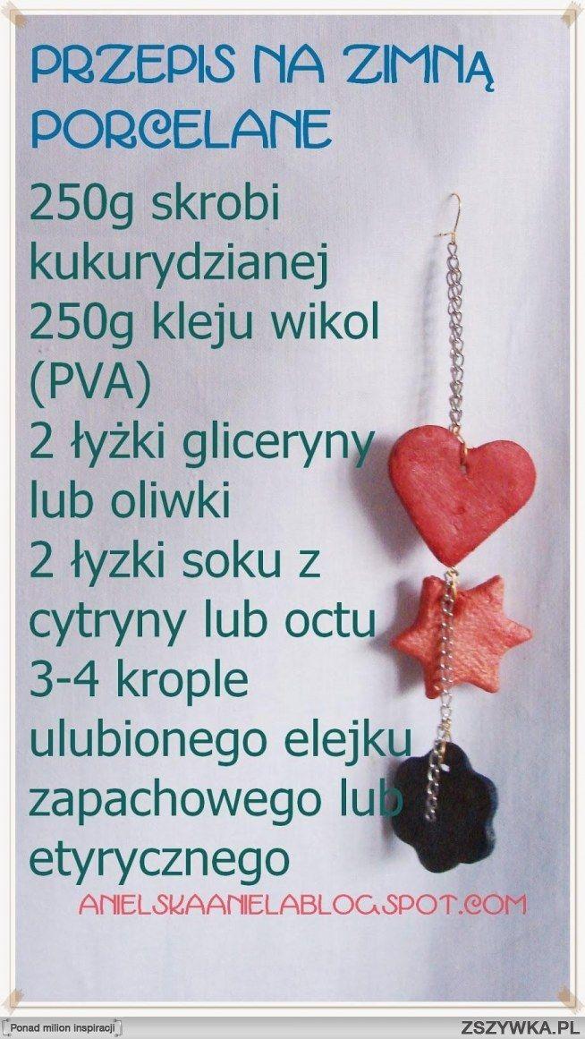 Zobacz zdjęcie Przepis na zimna porcelanę więcej klik na foto :) jak zrobić ,jak używać,jak ją zabarwić   Polecam :) w pełnej rozdzielczości