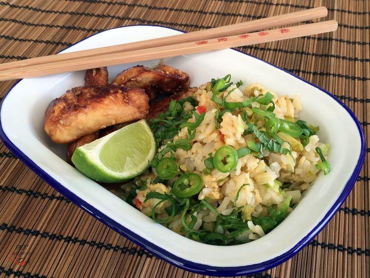 Un arroz aromatizado al estilo de Gordon Ramsey, el mediático chef inglés. Para acompañar un pollo marinado de corte asiático.