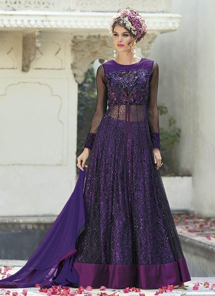 Purple Heavy Embroidered Designer Anarkali Suit  https://www.ranafashions.in/salwar-suits/purple-heavy-embroidered-designer-anarkali-suit-4686.html