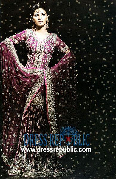 Cool Purple Fretta Product code DR by dressrepublic Keywords Indian Bridal OutfitsIndian