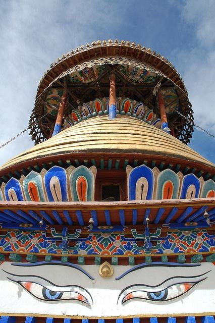 Gyantse Kumbum, Tibet by iancowe, via Flickr