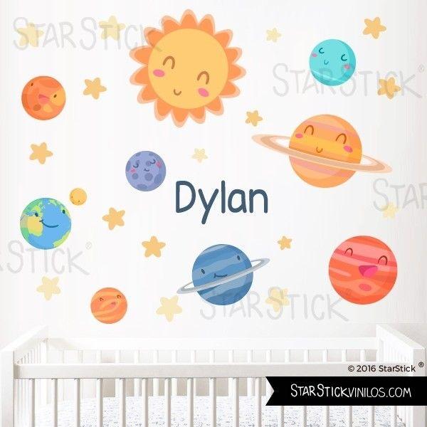 Vinilos Decorativos Planetas.Vinilo Bebe Planetas Infantiles Vinilos Decorativos