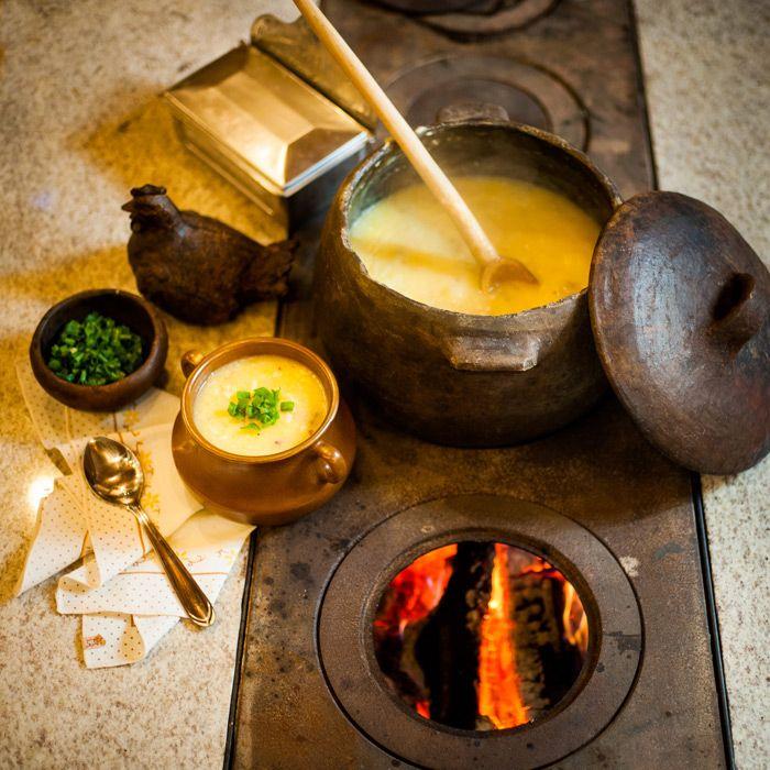 Receita de caldo de mandioca com carne seca