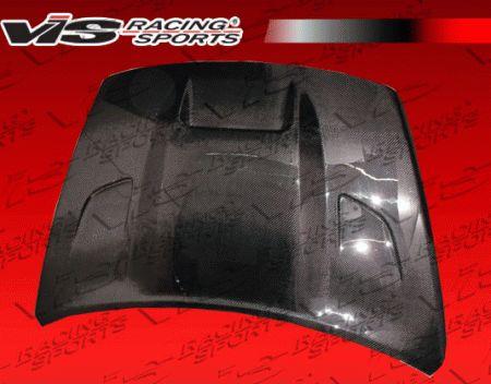 Dodge Caliber VIS Racing SRT Black Carbon Fiber Hood - 07DGCAL4DSRT-010C