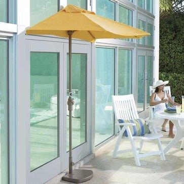 Half Canopy Patio Umbrellas   Contemporary   Outdoor Umbrellas   Brookstone