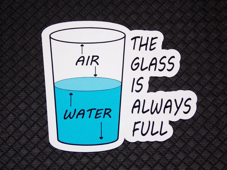 The Glass Is Always Full Funny Flexible Fridge Refrigerator Magnet Quote Osarix