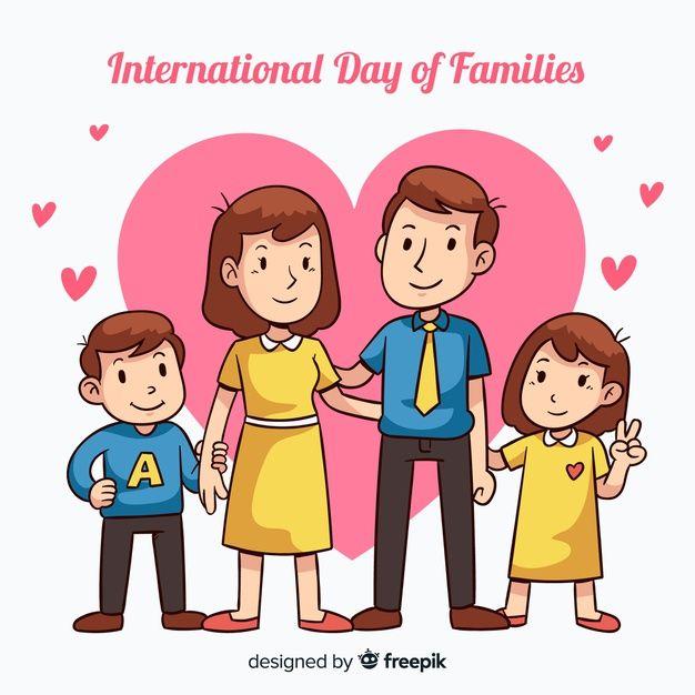 International Day Of Families Family Cartoon International Family Day Family Logo