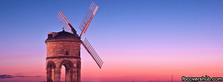 Sunset Pink Windmill Fb Cover