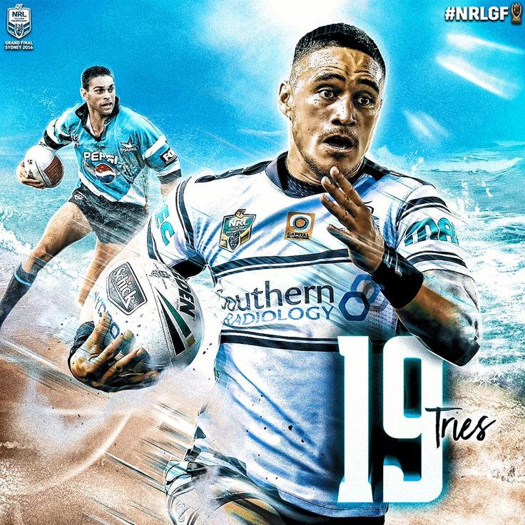 Valentine Holmes equalled the Cronulla Sharks club record of 19 Tries in a season, scored by former fullback David Peachey back in 1999. #HistoryHappens #NRL