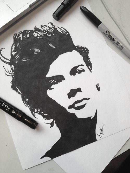 Best 25+ Harry Styles Drawing Ideas On Pinterest   Harry Styles New Hair Harry Styles Long Hair ...