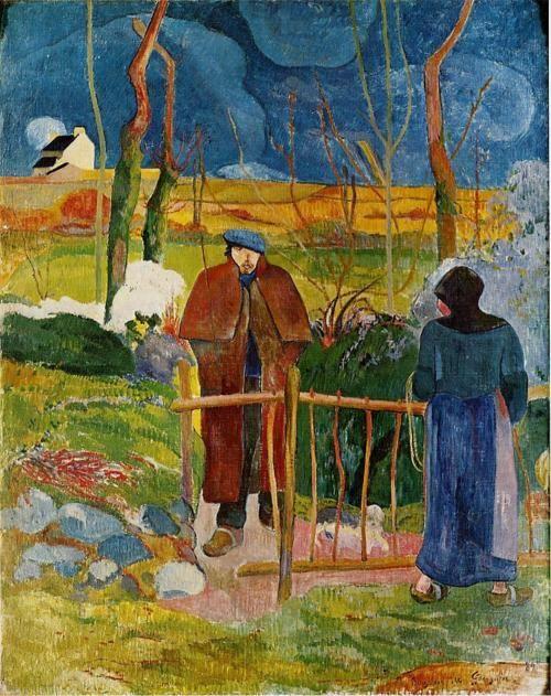 Bonjour Monsieur Gauguin, 1889  Paul Gauguin: Gauguin Paul, Paul Gauguin, Art, Painting