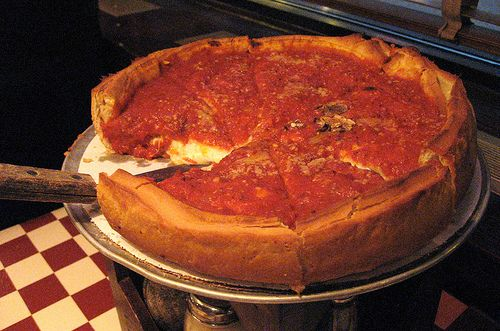 Giordanos pizza in chicago!! the BEST deep dish pizza in the midwest.