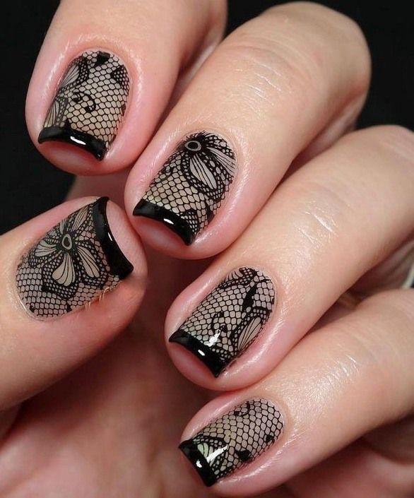 10 Cute and Stunning Black Nail Arts P-2