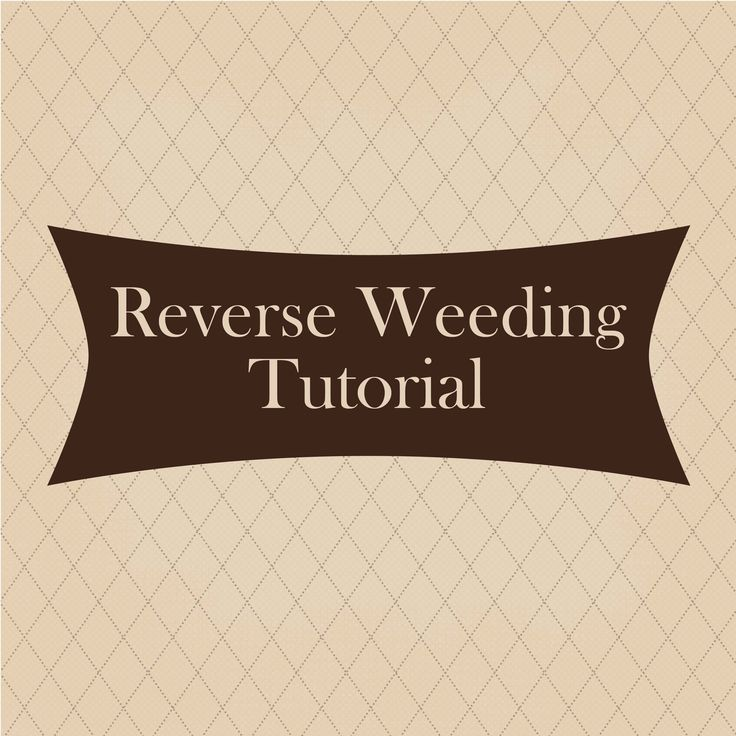 This video is to show the vinyl technique called reverse weeding