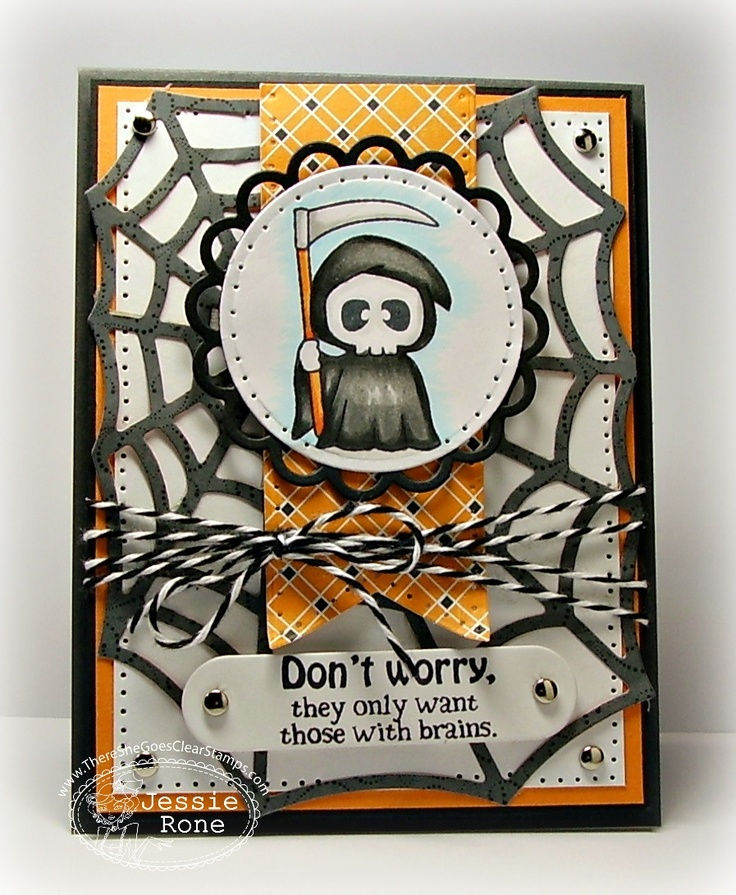 braaaaiiiinnnnsss by knightrone cards and paper crafts at splitcoaststampers - What To Say In A Halloween Card