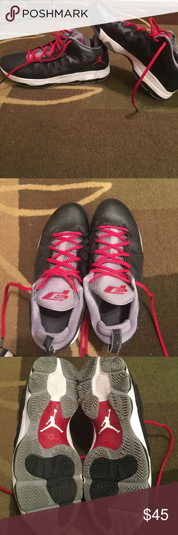 Jordan basketball shoes Men's Jordan CP3 basketball shoes, size 8, fits women size 9. Worn for half a summer league, soles are still in great condition as you can see in picture Jordan Shoes Athletic Shoes