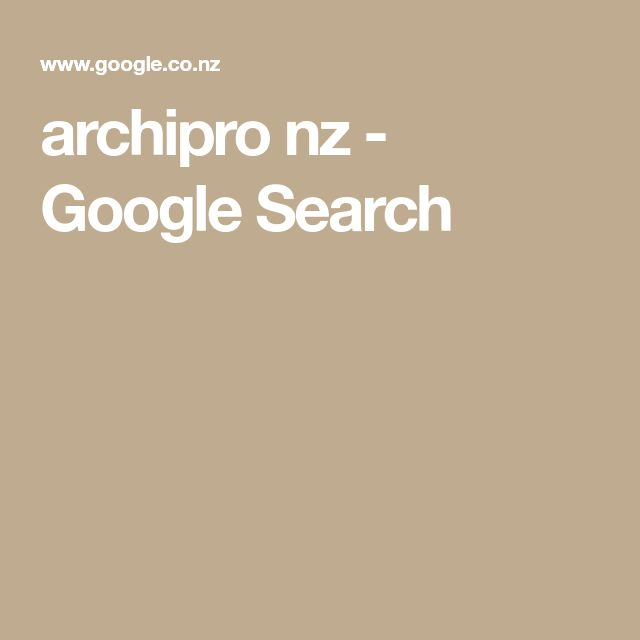 archipro nz - Google Search