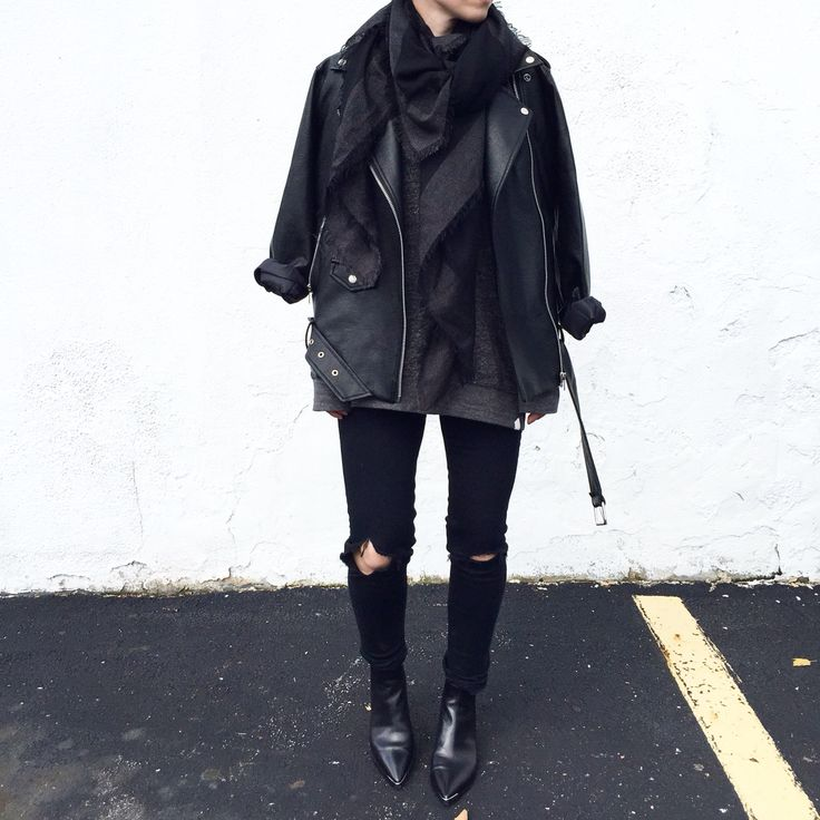 Black layers. Acne Studios Jensen boots and Velocite Jacket. Street Style - OVRSLO: