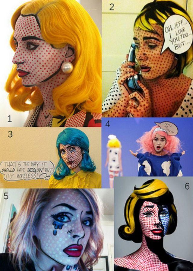 Roy Lichtenstein, Pop Art, Comic, Carnival, Costume I Karneval, Fasching, Inspiration