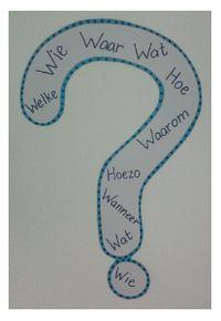 Als kinderen elkaar ergens over moeten bevragen, dan blijven ze vaak hangen in het stellen van gesloten vragen, waardoor er geen gesprek op gang komt. Hang dit vraagteken op in je klas en help kinderen met het stellen van open vragen.