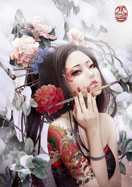 IndiesArt.com - Zhang Xiaobai - Tatoo illustrations -
