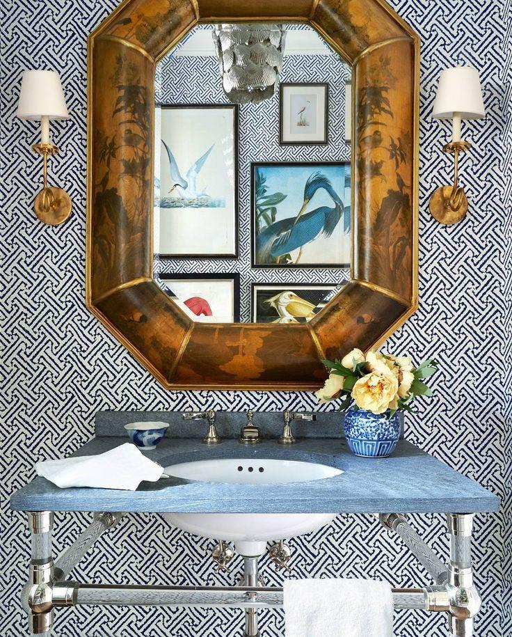 wisteria wallpaper bathroom - photo #41