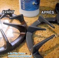 DIY Life Hacks & Crafts : L'Astuce Stupéfiante Pour Nettoyer SANS Frotter les Grilles de Gazinière....  https://diypick.com/lifehacks/diy-life-hacks-astuce-stupefiante-pour-nettoyer-sans-frotter-les-grilles-de-gaziniere/