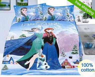 twin frozen bedding | bedding sets Princess Elsa & Anna Olaf Frozen bed set twin/single bed ...
