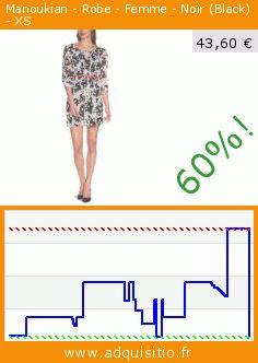 Manoukian - Robe - Femme - Noir (Black) - XS (Vêtements). Réduction de 60%! Prix actuel 43,60 €, l'ancien prix était de 109,00 €. http://www.adquisitio.fr/manoukian/robe-femme-noir-black-xs