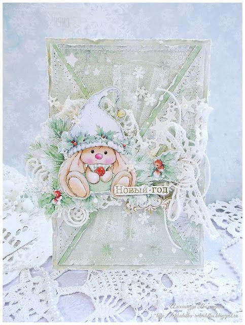winter cute bunny Scrapberry's