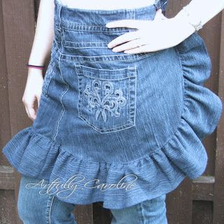 Artfully Caroline: Jeans upcycled - A fun apron