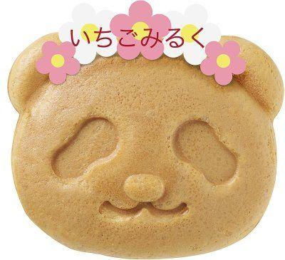 銀座コージーコーナー上野公園ルエノ店で、限定商品「パンダ焼き(いちごみるく)」