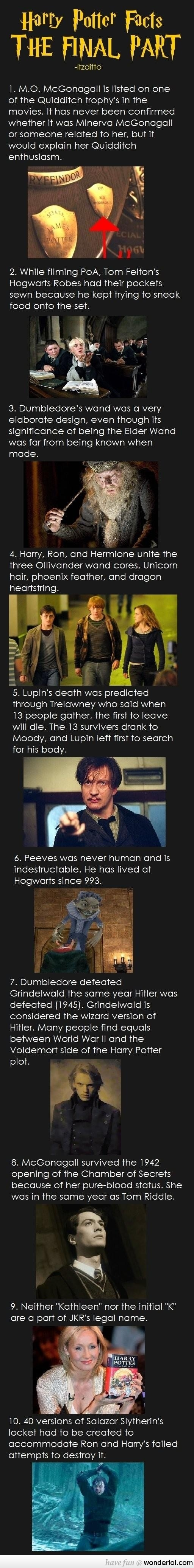 Facts You Didn't Know About Harry Potter /Part 1/ hmmm cool. And lol one reason why I love Tom Felton!