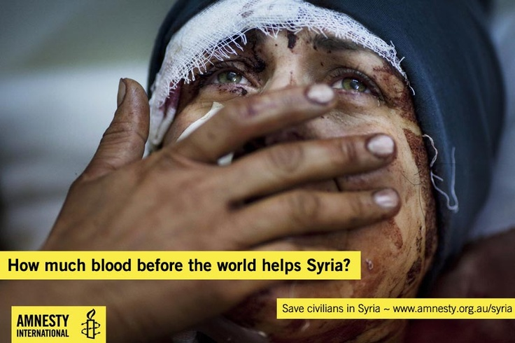 How much blood before the world helps Syria? Take action to stop the bloodshed: http://www.amnesty.org.au/syria