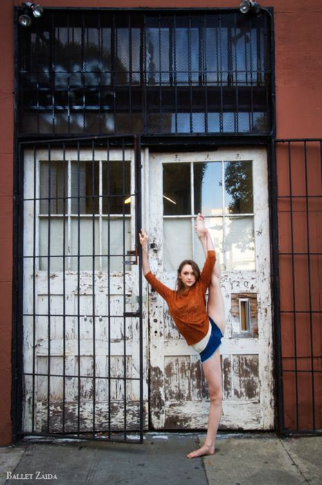 Senior picture ransom dance moves In regular clothes around the city