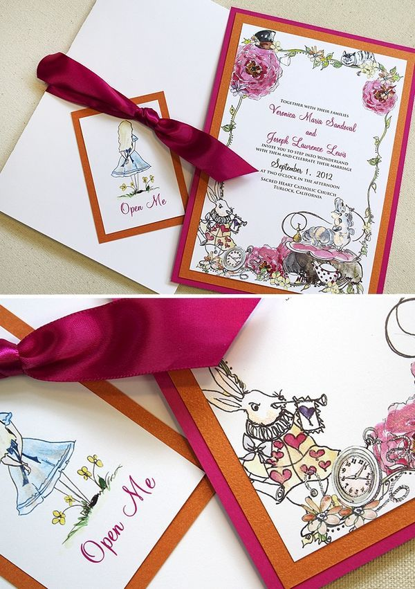 Alice in Wonderland Wedding Invitations - Works of Art....... - A Very Curious Wedding