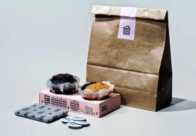 Desain Kreatif Kemasan Makanan - Elinas bakery oleh Konstantina Yiannakopoulou, George Strouzas and The Birthdays