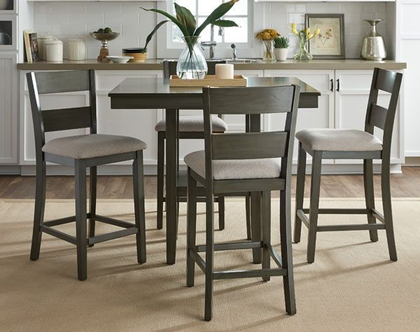 Come Meet The #Omaha Grey 5 Piece Counter Set By Standard Furniture