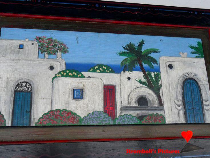 Artistic paintings of #Stromboli.