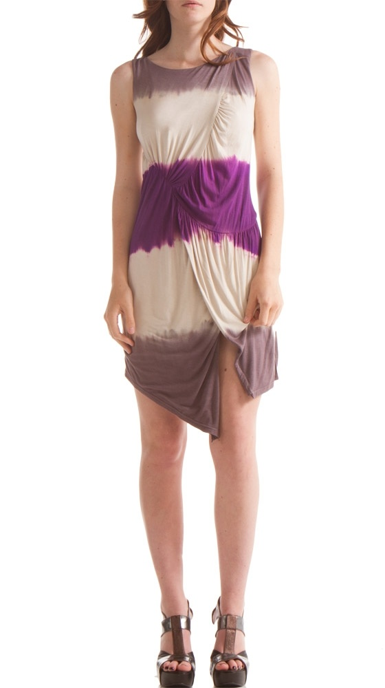 {Dip Dyed Wrap Tankdress} by Iron - love the placement of the purple!