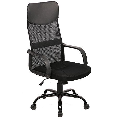 The breathable mesh back is an added bonus for keeping your back cool while sitting. This chair feature a heavy duty metal base not cheap plastic base used by others....